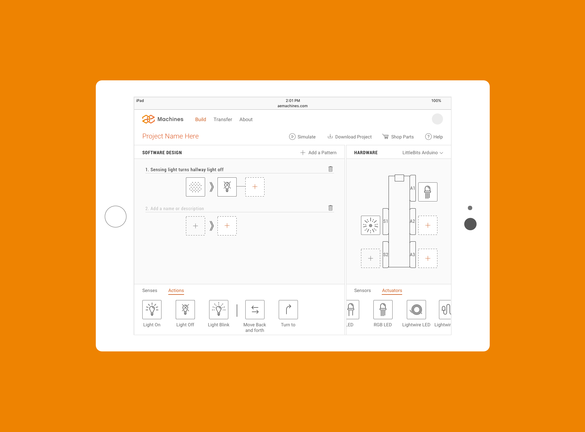 Responsive design - tablet size version