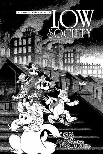 Cerebus - Low Society Cover Page by Gerhard and Students