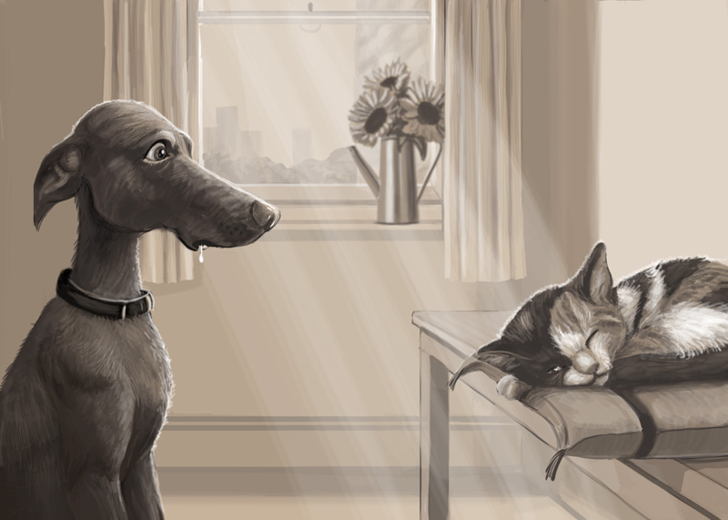 A Schoolism assignment on C omposition  using provided photo references as inspiration.