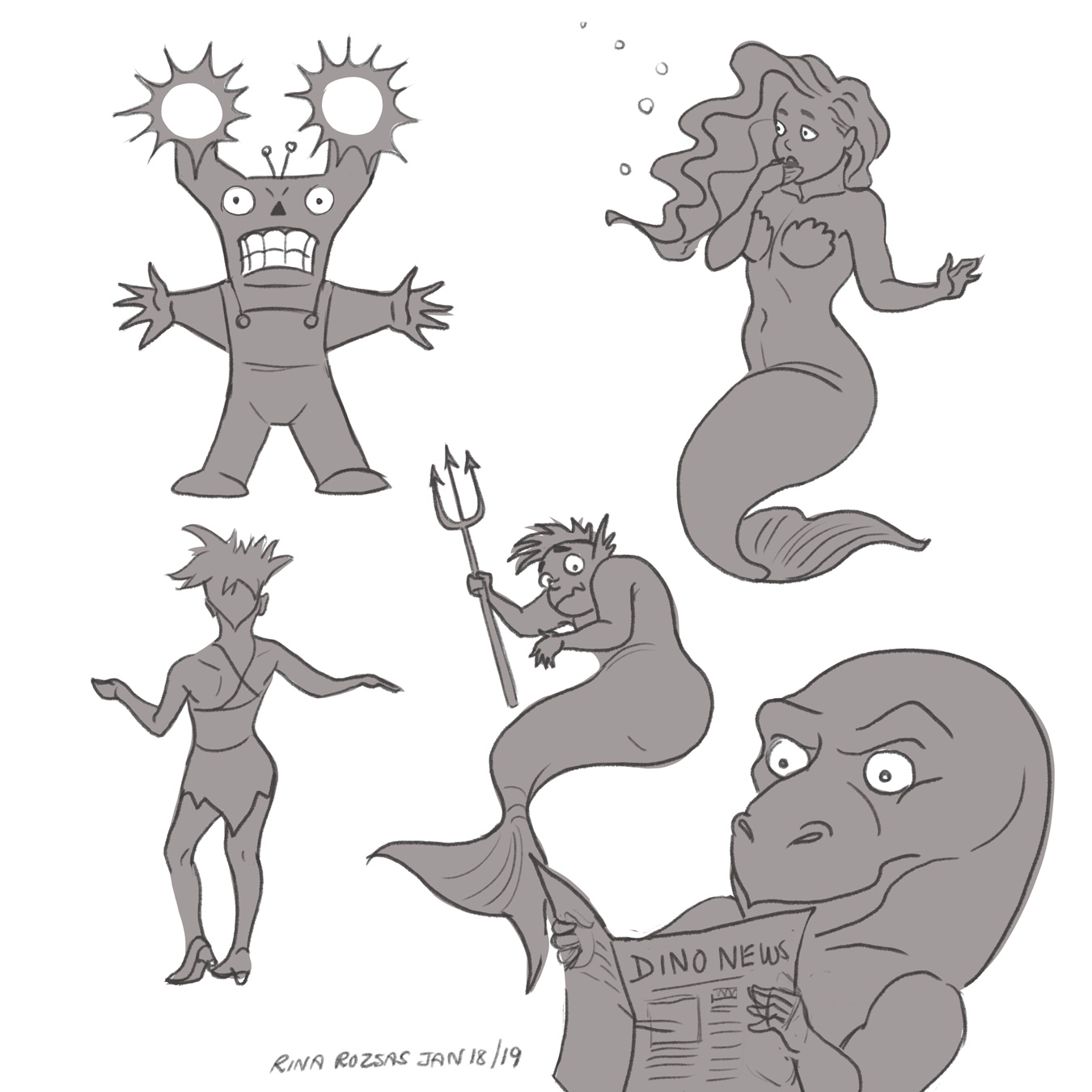 Random Characters From Silhouettes