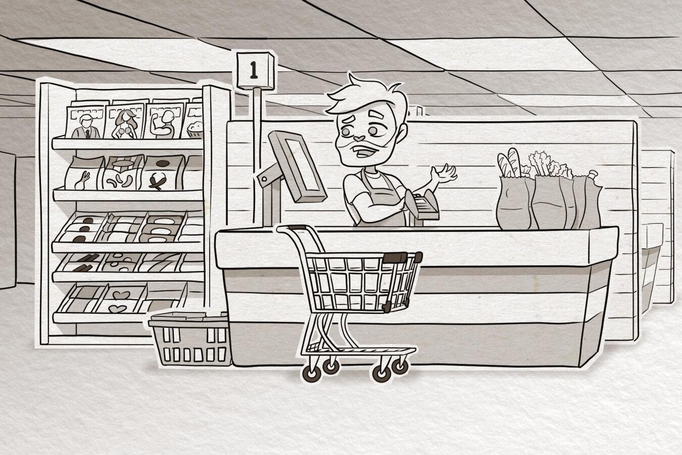 Cashier Scene