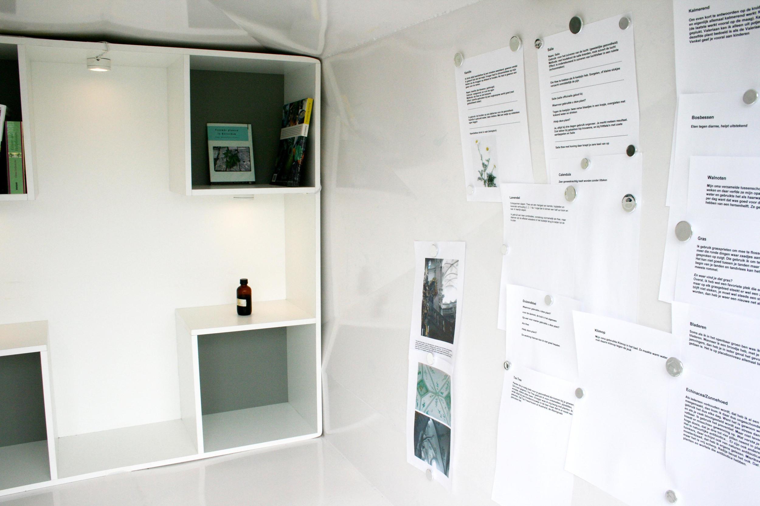In de apotheek bevindt zich het kenniscentrum met de resultaten / foto's, e.d.