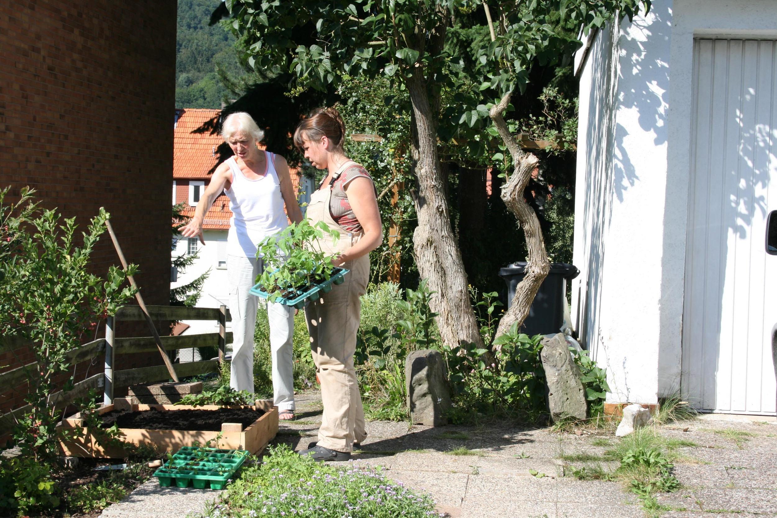 Rita Wetzel(Pfleger),  Uhlandstrasse 12,  3619 Rotenburg a.d.f.,.      Rita Wessler is een oudere dame. Ze schildert. Ze heeft een verwilderde tuin in Rotenborg. In de tuin staan veel kruiden: o.a. Salie en Munt. De mooiste plek voor het volkstuintje is bij de weg. Op de oprit van haar garage. Uiteindelijk wordt besloten het iets verder haar tuin in te plaatsen; jammer. Zo is het minder zichtbaar vanaf de weg, maar goed het busje van haar zoon moet ook op de oprit kunnen staan wanneer hij op bezoek komt....