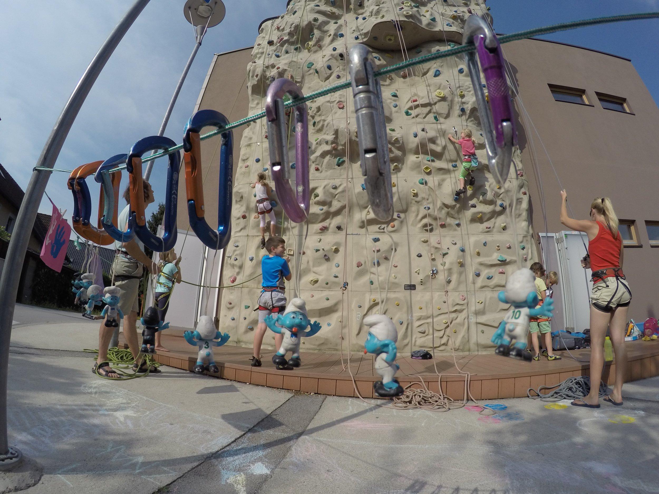 Plezalne počitnice za otroke Grif