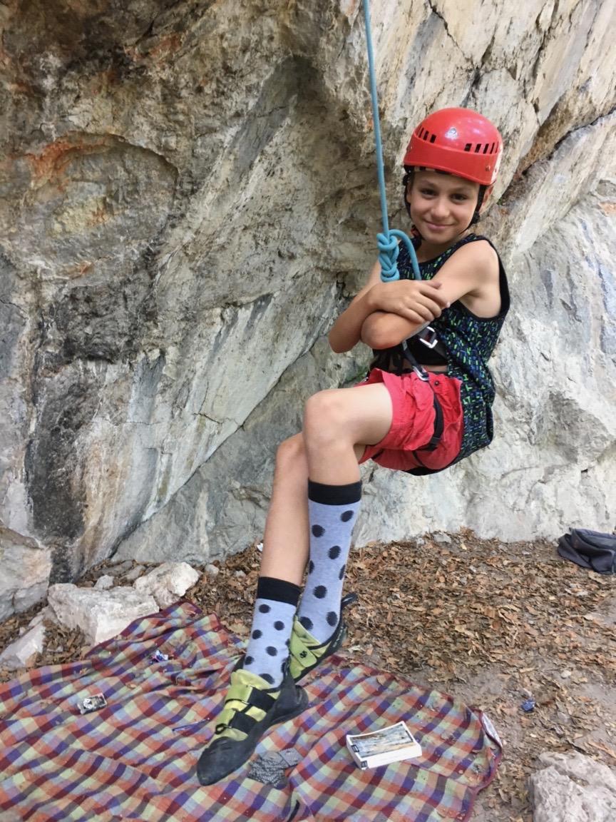 Plezanje za otroke v naravi
