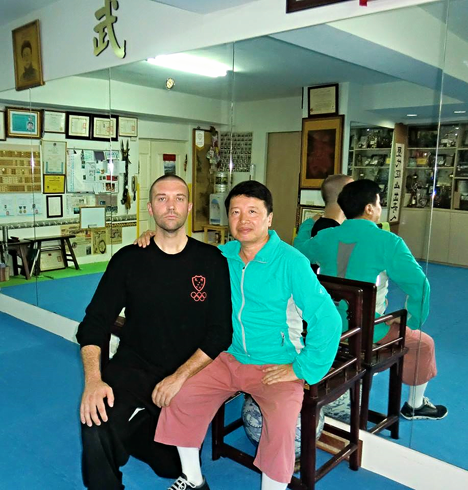 Shifu Woolsey with Grandmaster Huang, Taiwan 2013