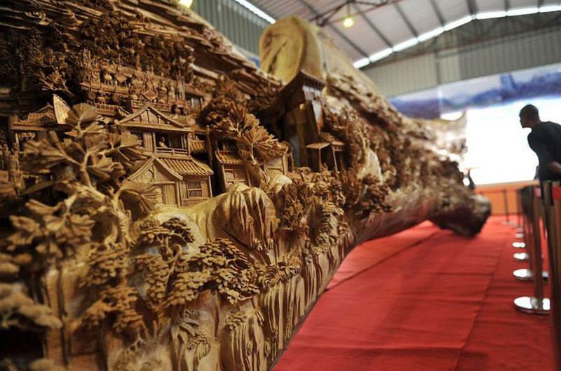 Based on the famous scroll painting Along the River During the Qingming Festival (c 1085-1145)