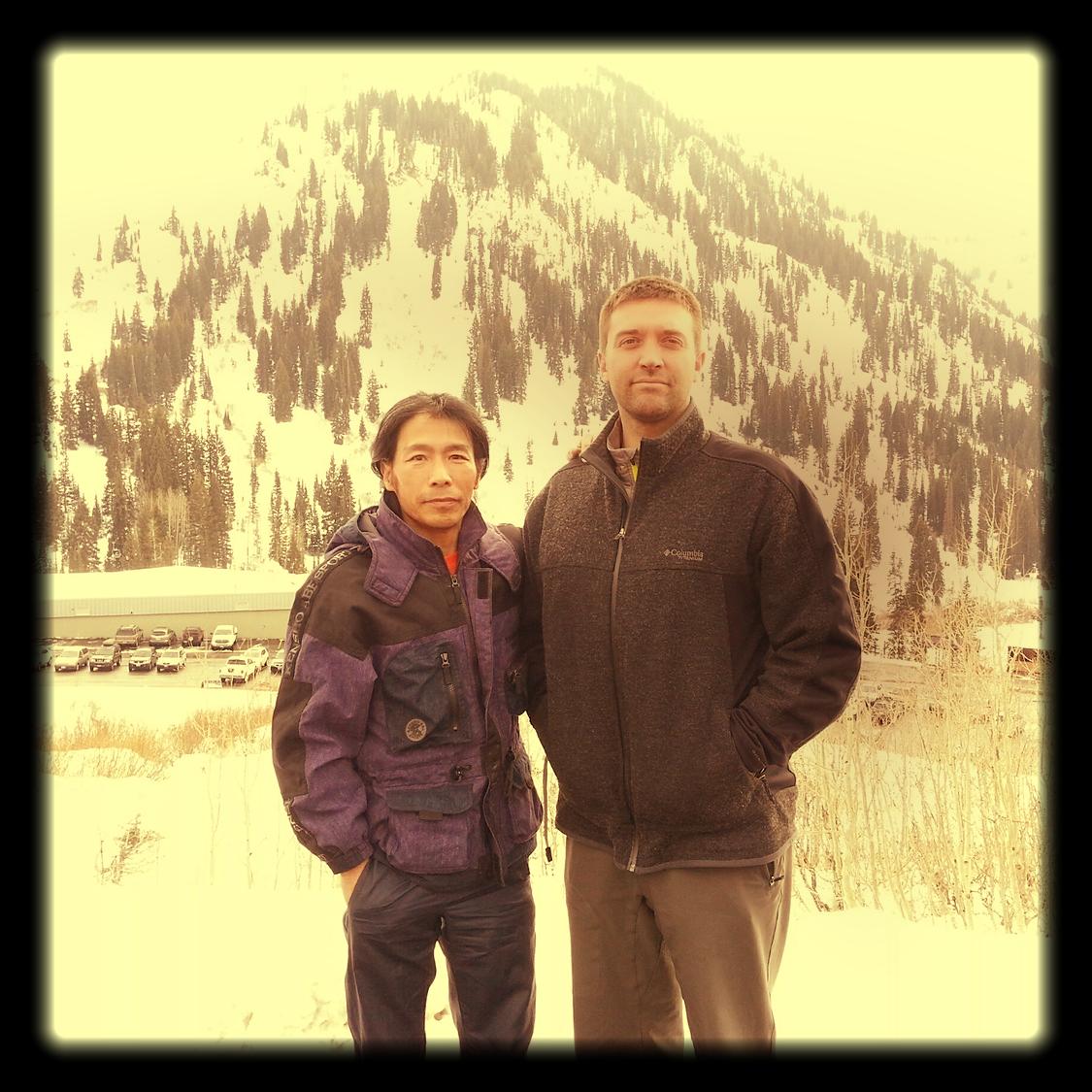 Shifu Woolsey with Master Su Tong Yu, Little Cottonwood Canyon, 2014