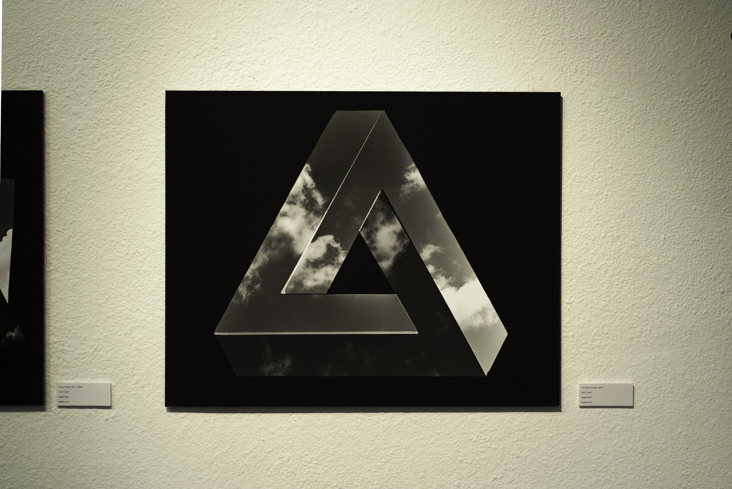 "Penrose Triangle , 2015  Digital Inkjet Print  24""x30"""