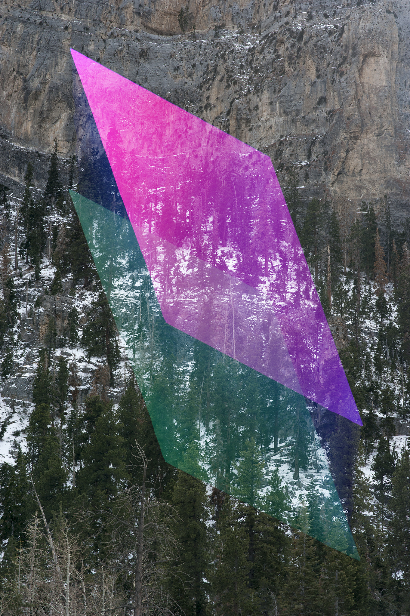 Digital Overlay No. 23 (Mountain) , 2016