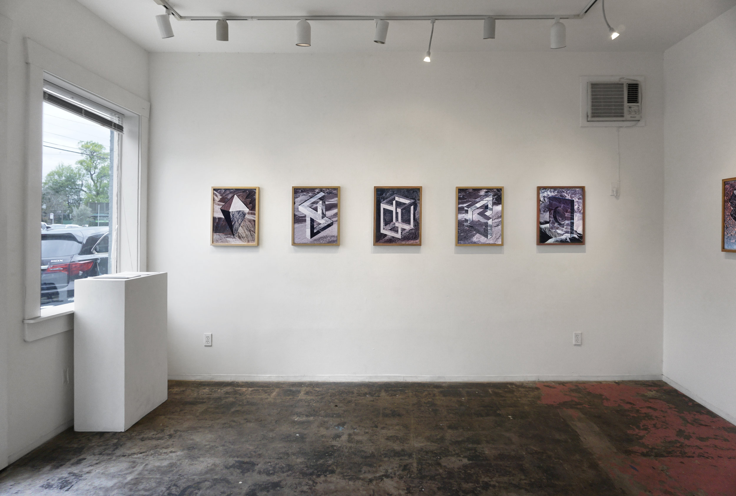 Installation view  Optical Project  Houston ,TX   https://www.deasil.art/projects/2019/3/10/charlie-kitchen-interpolations