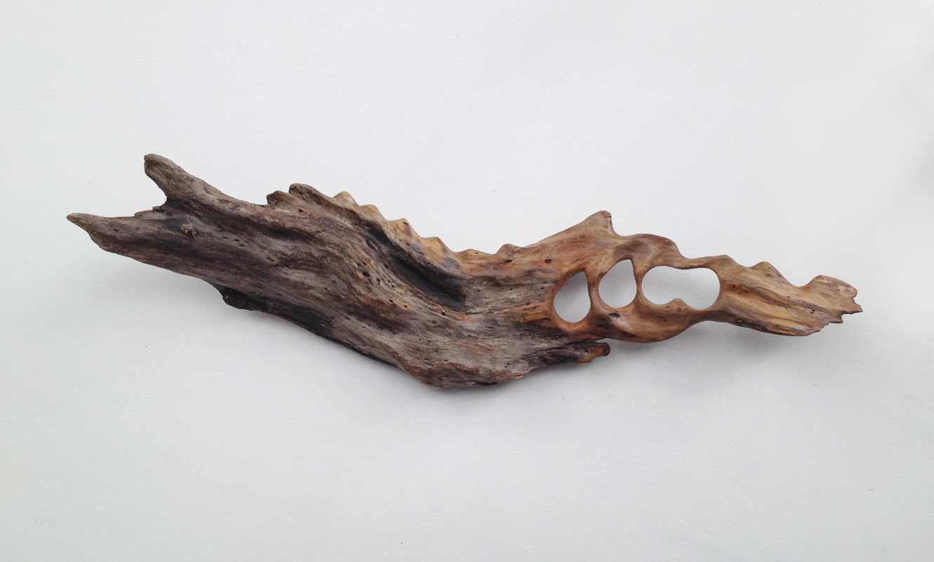 Untitled (Driftwood) , 2013  hand-carved driftwoodtreated with polyurethane  6 x 20 x 3.5 inches