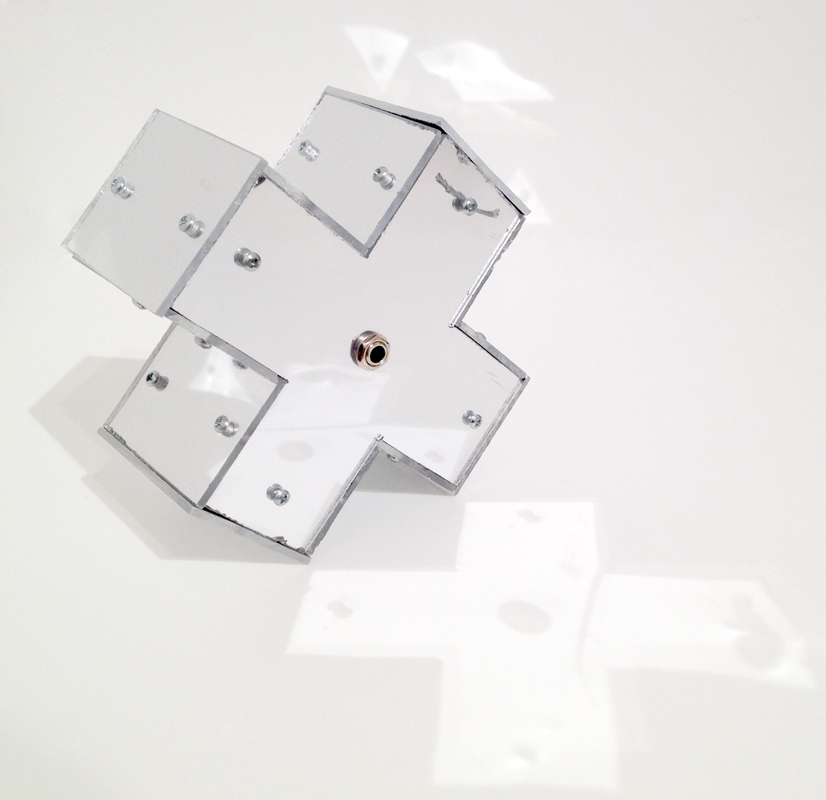 Untitled (Resistive Optical Controller) , 2013 mirror-finish plastic, electronics 6.5 x 6.5 x 3.5 inches