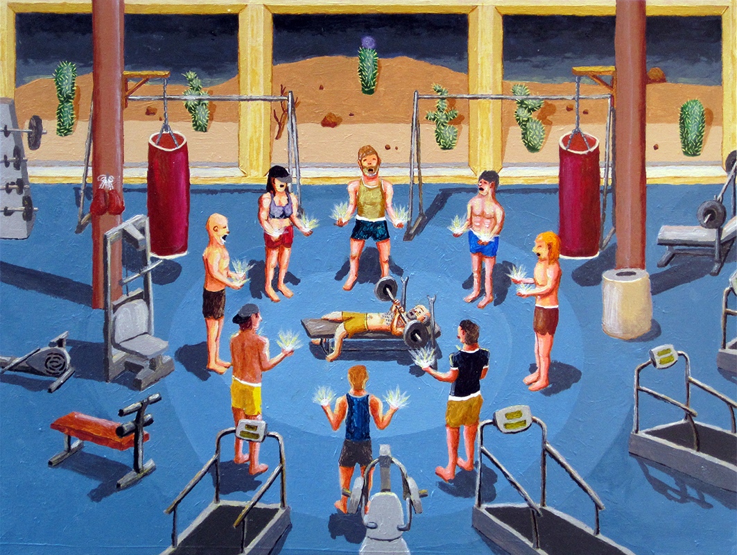 Gym Withcraft,  2011 acrylic on panel 18 x 24 inches