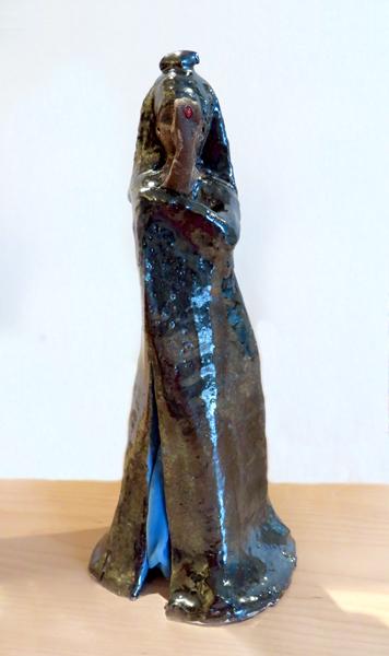 Cri de Coeur (for Nancy Spero), 2014 glazed earthenware 11.5 x 5.25 x 5 inches
