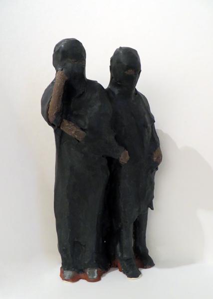 Fleeing Women,  2014   glazed earthenware 10 x 5 x 4 inches