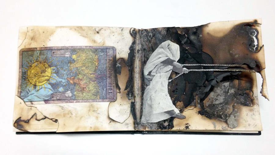 Untitled  , 2012   mixed media, notebook   5 x 6 x .5 inches (closed)