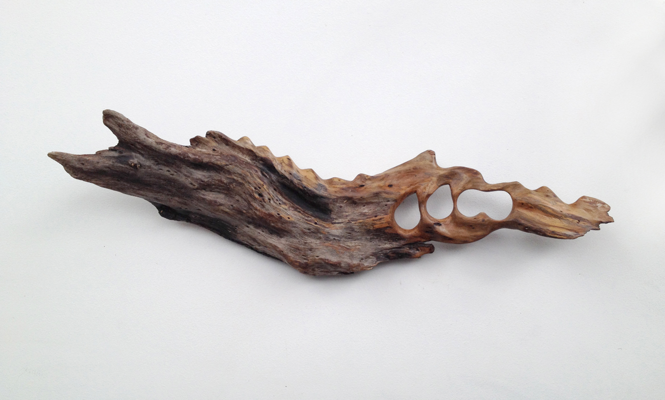 Untitled (Driftwood) , 2013 hand-carved driftwood, polyurethane, 6 x 20 x 3.5 inches