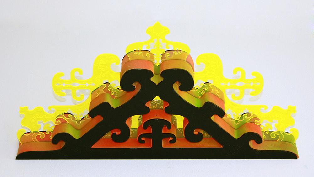 Brenna Murphy  Domain Terrace No. 2 , 2014 plexiglass, MDF, paint
