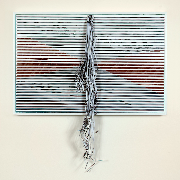 Horizon No. 7 , 2014 embellished Lambda prints and frame, 32 x 31 x 4inches (frame 21 x 31 x 2 inches)