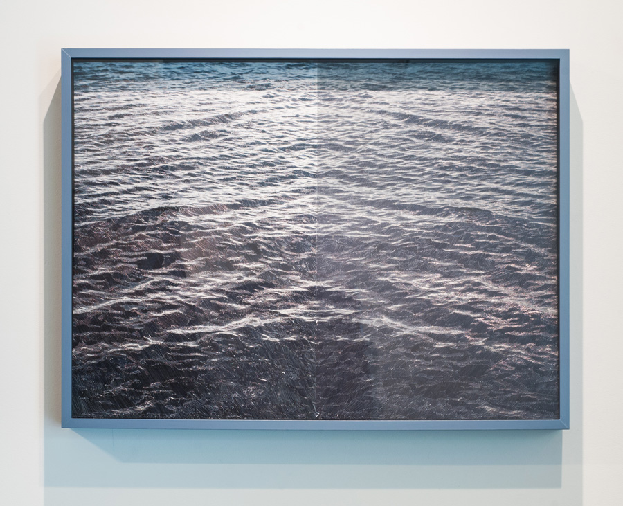Event No. 3 , 2015 embellished Lambda photographs and frame, 30 x 40 x 4 inches SOLD
