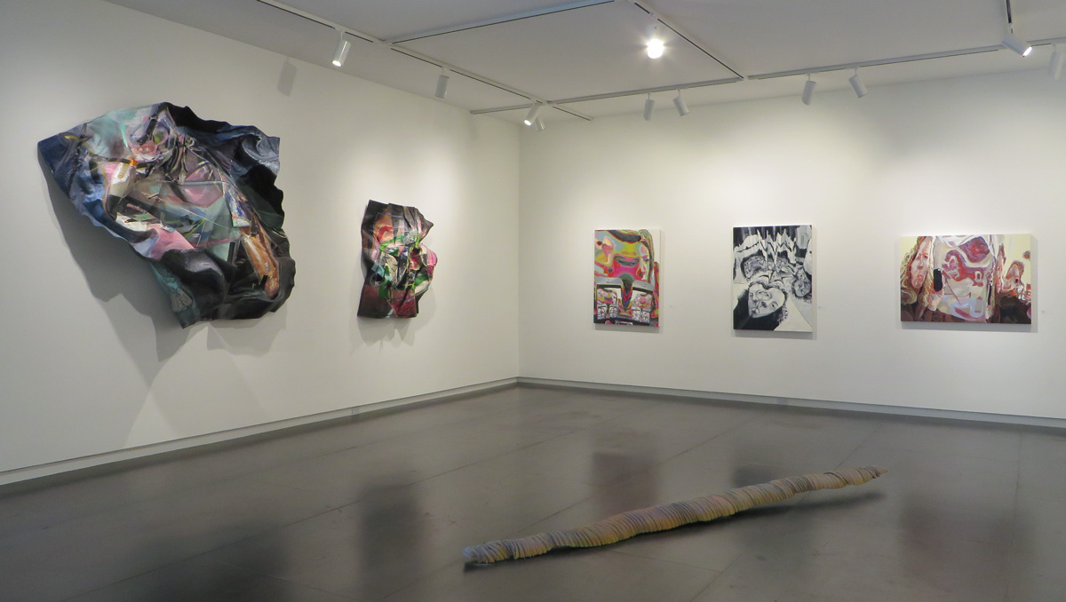 Paintings byMorgan Buck and Amy Turnbull;sculpture by Colin Kippen.