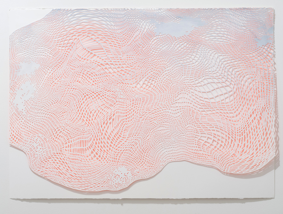 Laura Vandenburgh   Cloud Fragment 1 , 2015 watercolor, acrylic and paper, 29.5 x 41 inches
