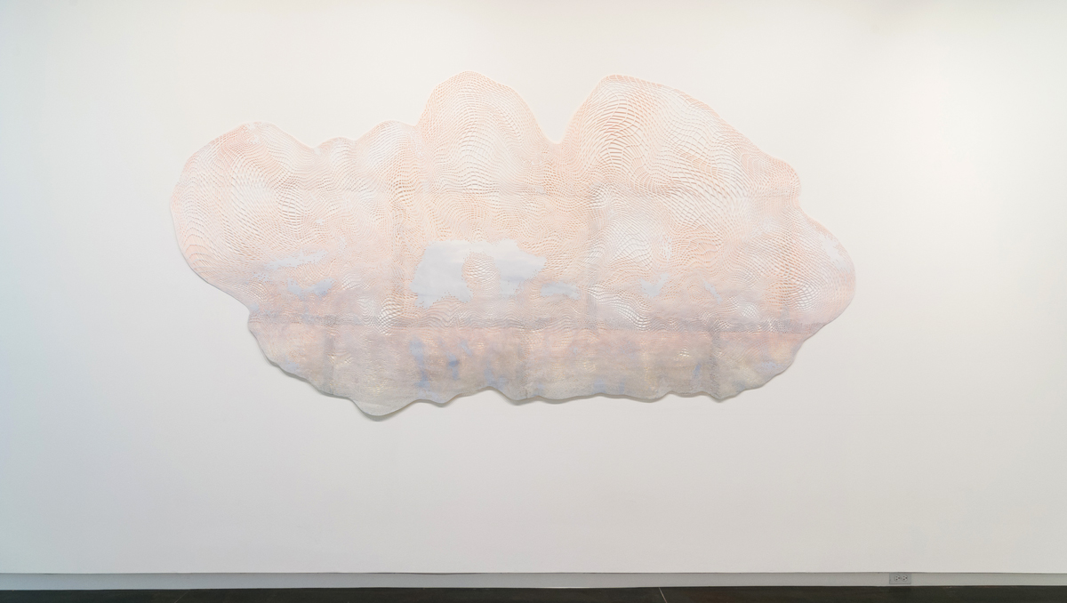 Laura Vandenburgh   Ghost , 2015 watercolor, acrylic, paper; 68 x 137 inches