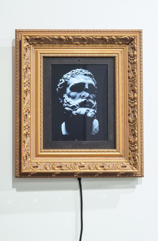 Zack Dougherty   Dynamic Frame , 2013 digital animation, electronic screen, frame,15 x 13 x 2 inches