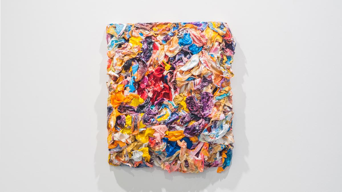 Erika Keck   Untitled , 2015 acrylic paint on wood panel,27 x 24 x 8inches shown courtesy envoy enterprises, NY