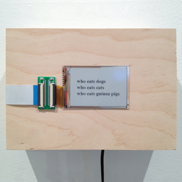 who eats dogs, who eats cats, who eats guinea pigs , 2015 custom wood enclosure, electronics, real-time Google autofill suggestions 5 x 7 x 2.25 inches