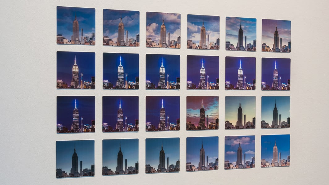 24 Hour Empire x 24 , 2016 24 unique lenticular prints photography assistance by Hal Bergman