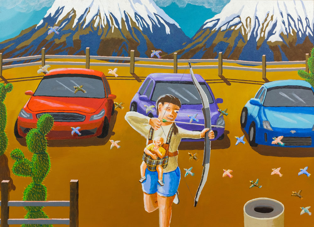 Pit Stop , 2015 acrylic on canvas 26 x 36 inches