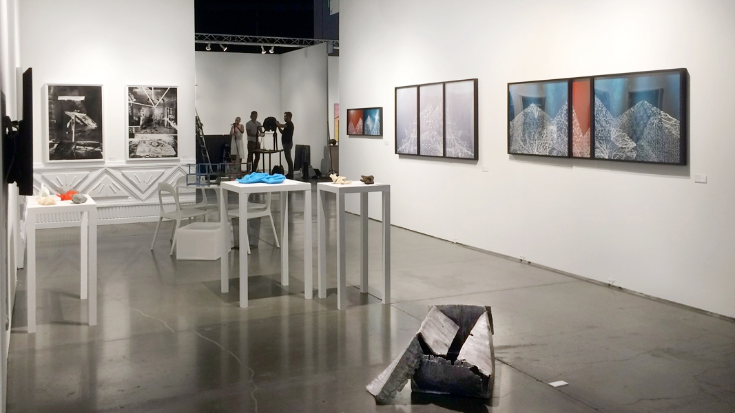 Upfor's booth at the Seattle Art Fair, 2016