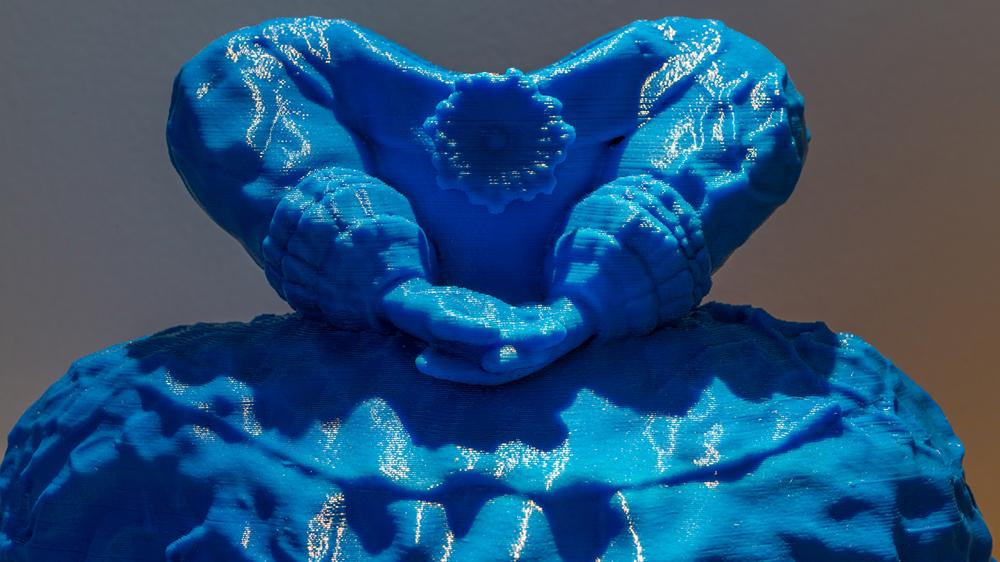 Blue Princess Dress (detail), 2016 ABS plastic 3D printed sculpture