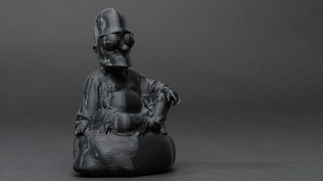 Dark Matter (First Series): #buddha #Simpson , 2013 3D printed plastic, 8 x 5 x 3.25 inches (approx.) edition of 5 plus 1 AP photo by Mario Gallucci