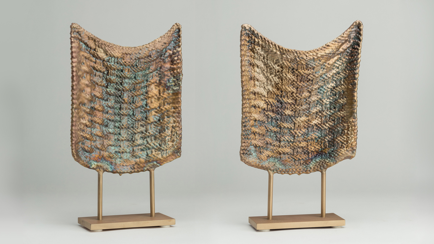 Untitled  and  Untitled , 2017 bronze (unique, each) 14 x 8 x 3 inches (each)