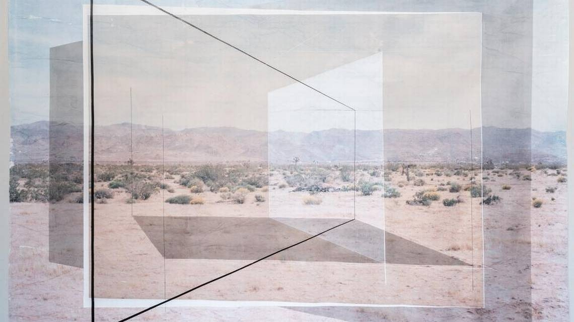 New Land No. 5 , 2017, by Rodrigo Valenzuela, at the McColl Center. Ben Premeaux, courtesy of the McColl Center for Art + Innovation.