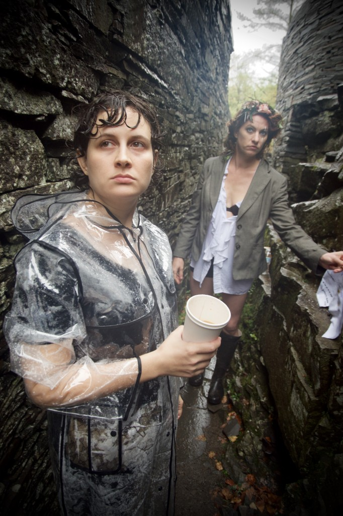 Jordan Rathus with Amanda Palmer on the set of 'Mother'. Photo by Krys Fox.