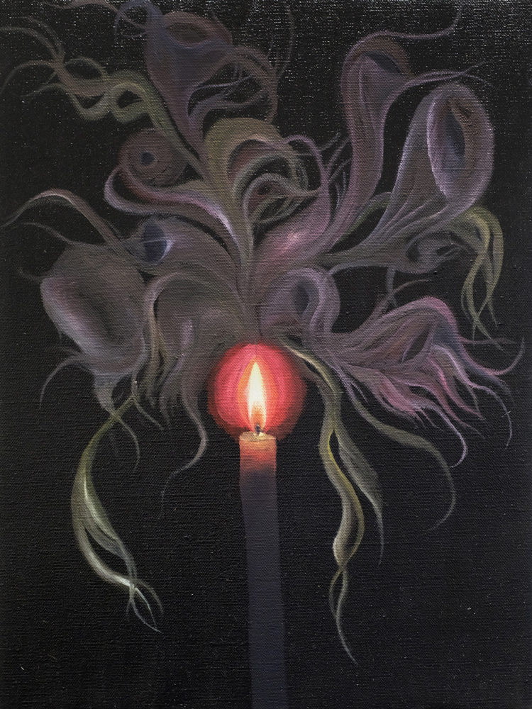 Candle , 2018 oil paint on linen 16 x 12 inches