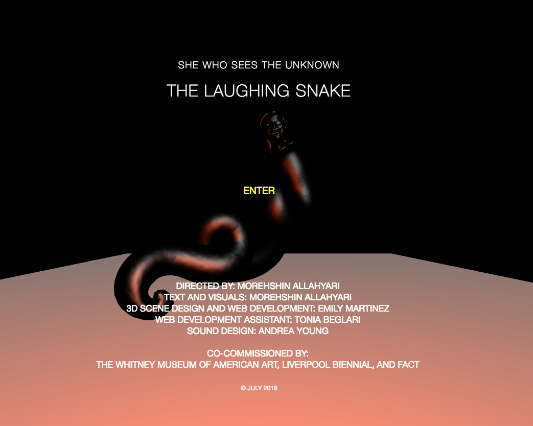 The Laughing Snake by Morehshin Allahyari