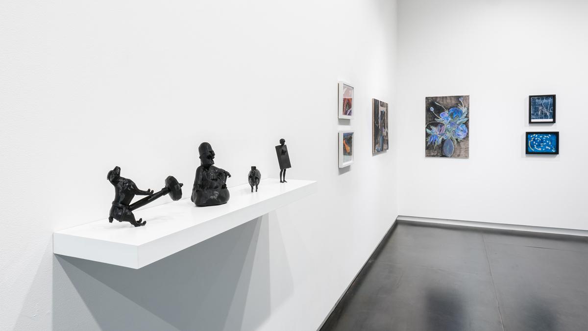 artists, left to right: Morehshin Allahyari, Ralph Pugay, Srijon Chowdhury, Ronny Quevedo