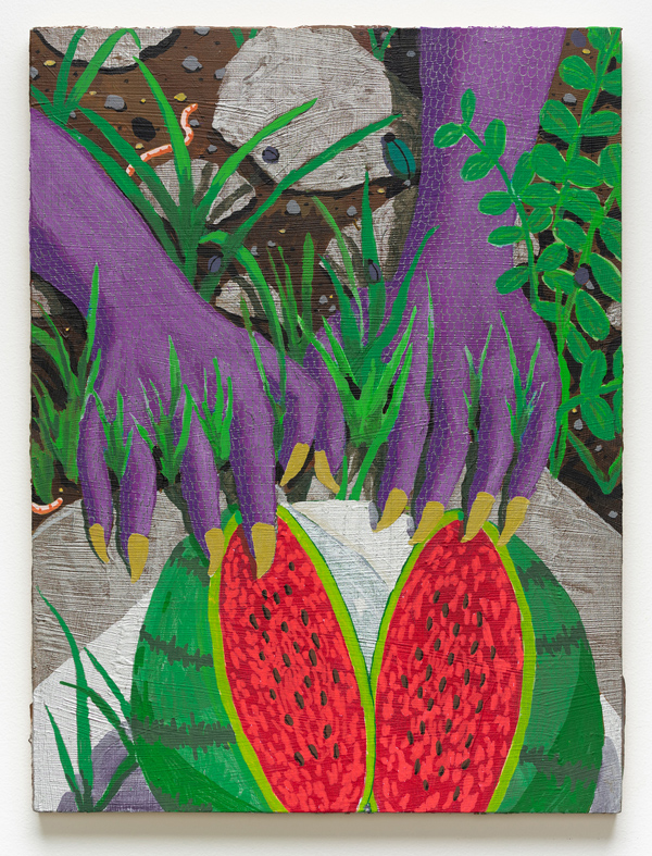 Open Fruit , 2018 acrylic on panel 16 x 12 x .75 inches