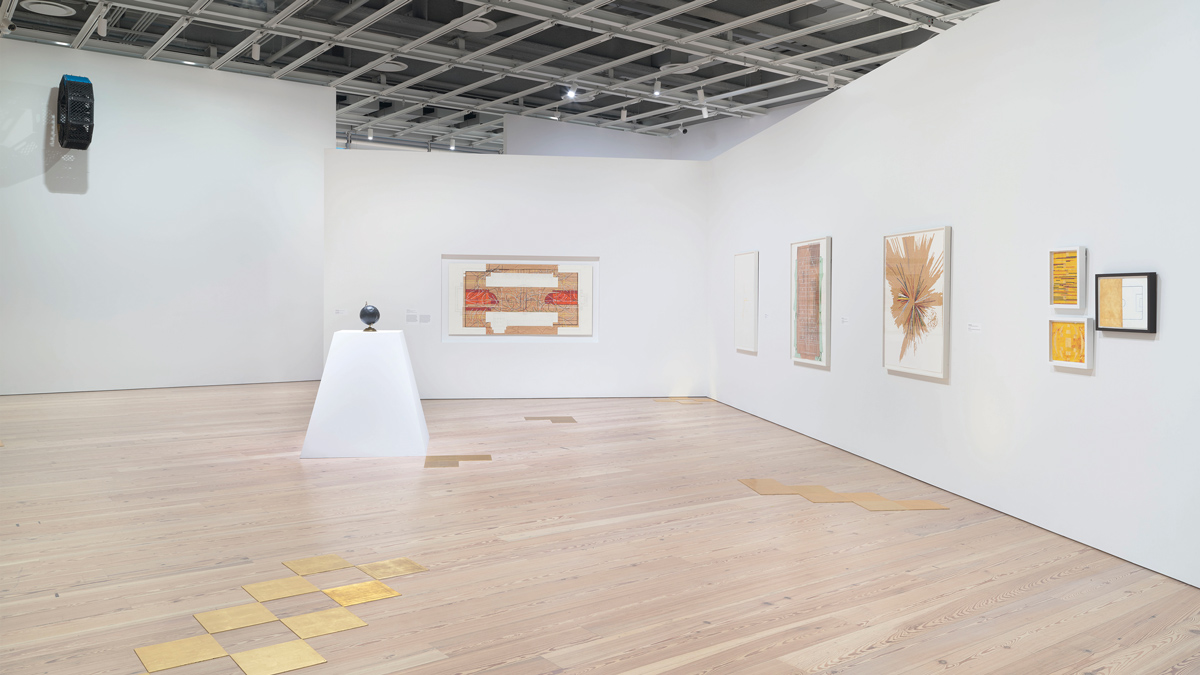 Installation view of Ronny Quevedo's work in  Pacha, Llaqta, Wasichay: Indigenous Space, Modern Architecture, New Art  at Whitney Museum of American Art, New York (July 13-September 30, 2018). Photograph by Ron Amstutz, courtesy the artist and Whitney Museum of American Art.