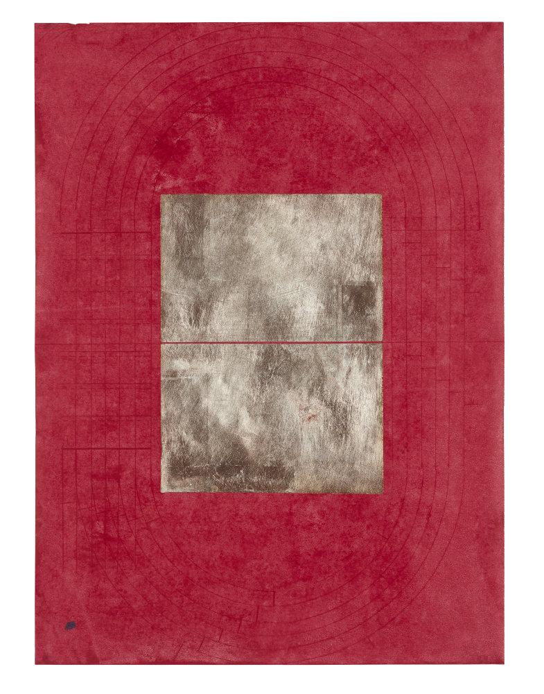 Souls of Black Folk (Popol Vuh) , 2018 silver leaf and wax on dress maker paper 26 x 18 in (66 x 45.7 cm) unframed 30.5 x 24 in (77.5 x 61 cm) framed