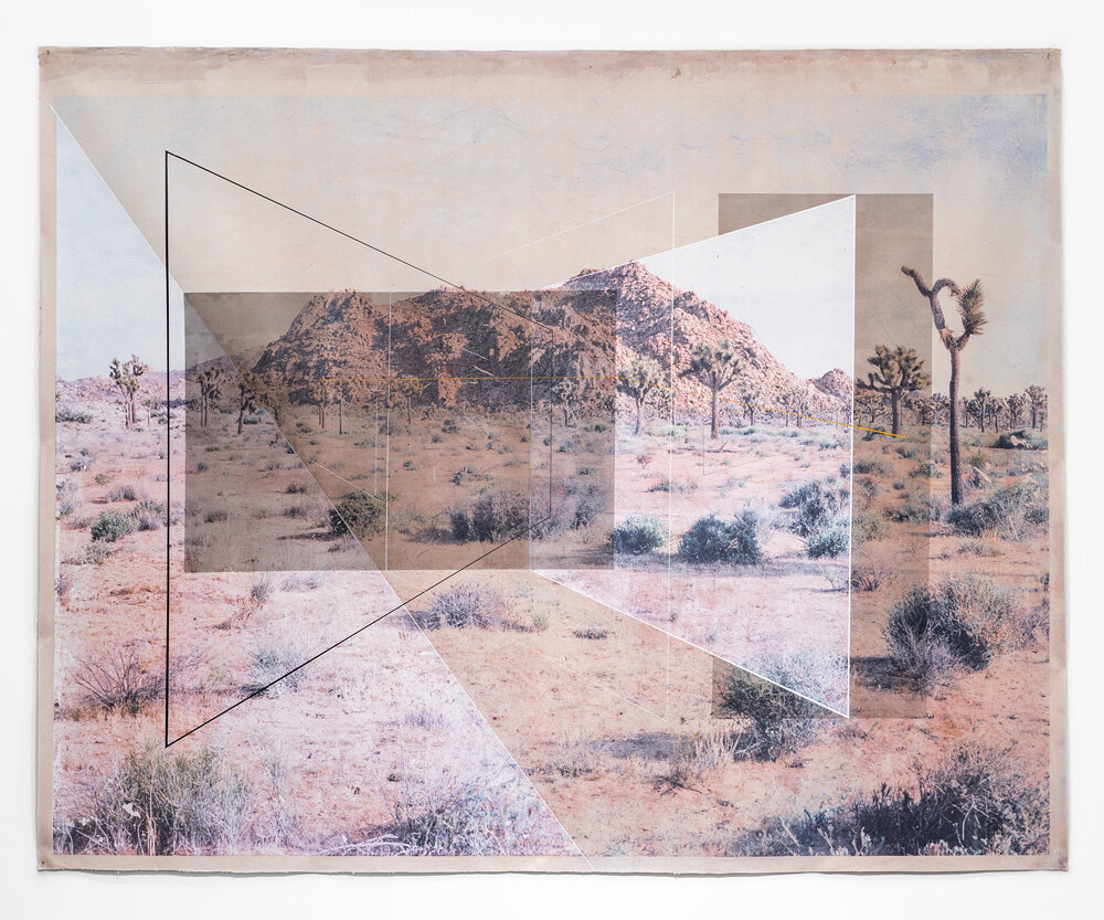 New Land No. 6 , 2017 toner, acrylic, chalk on canvas 78 x 98 inches
