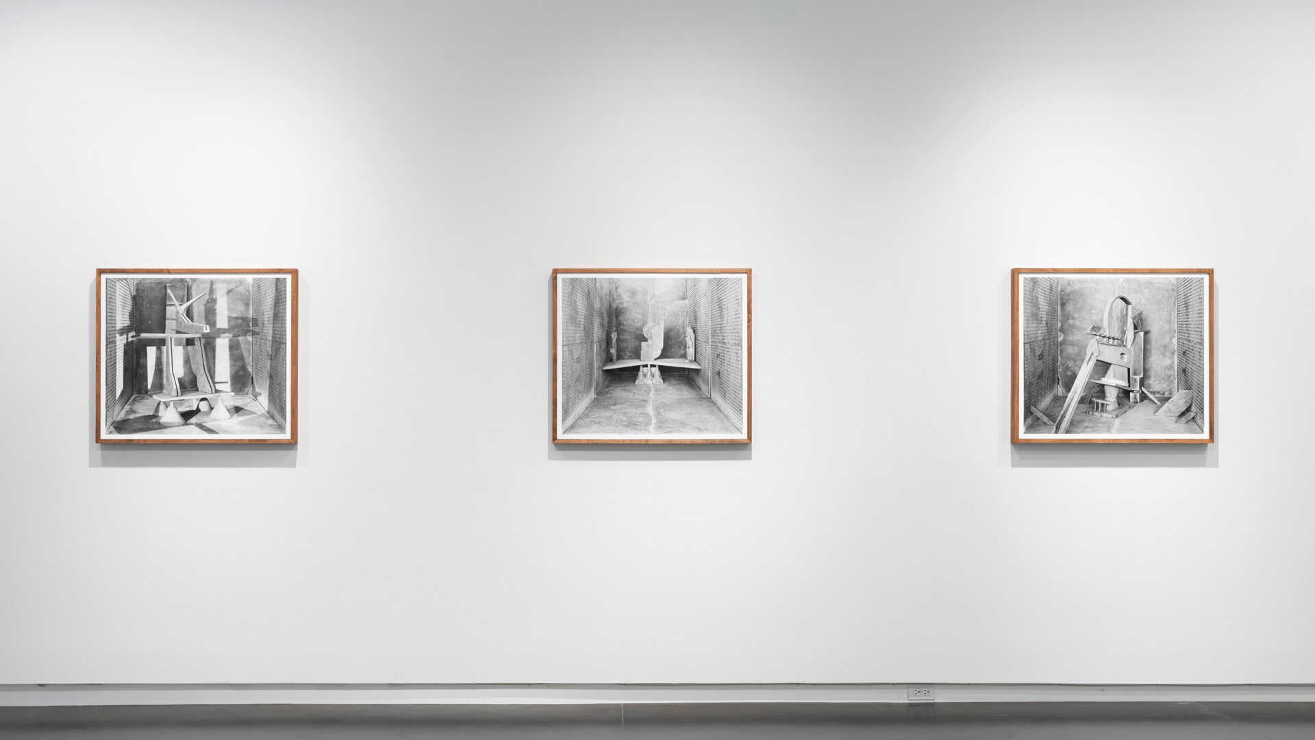 Stature No. 10  ,  No. 7 , and  No. 4  each: 2019, archival pigment print mounted on Sintra, artist frame 29 x 33 inches (framed), edition of 1 plus 1 AP