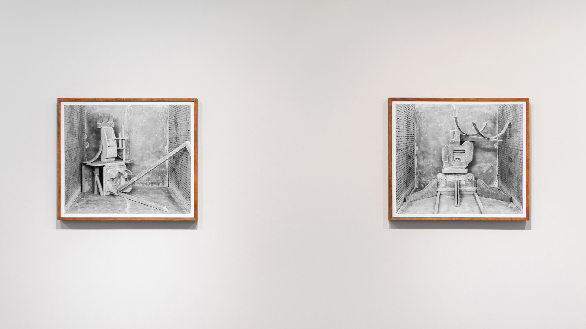 Stature No. 9  and  Stature No. 2  each: 2019, archival pigment print mounted on Sintra, artist frame 29 x 33 inches (framed), edition of 1 plus 1 AP