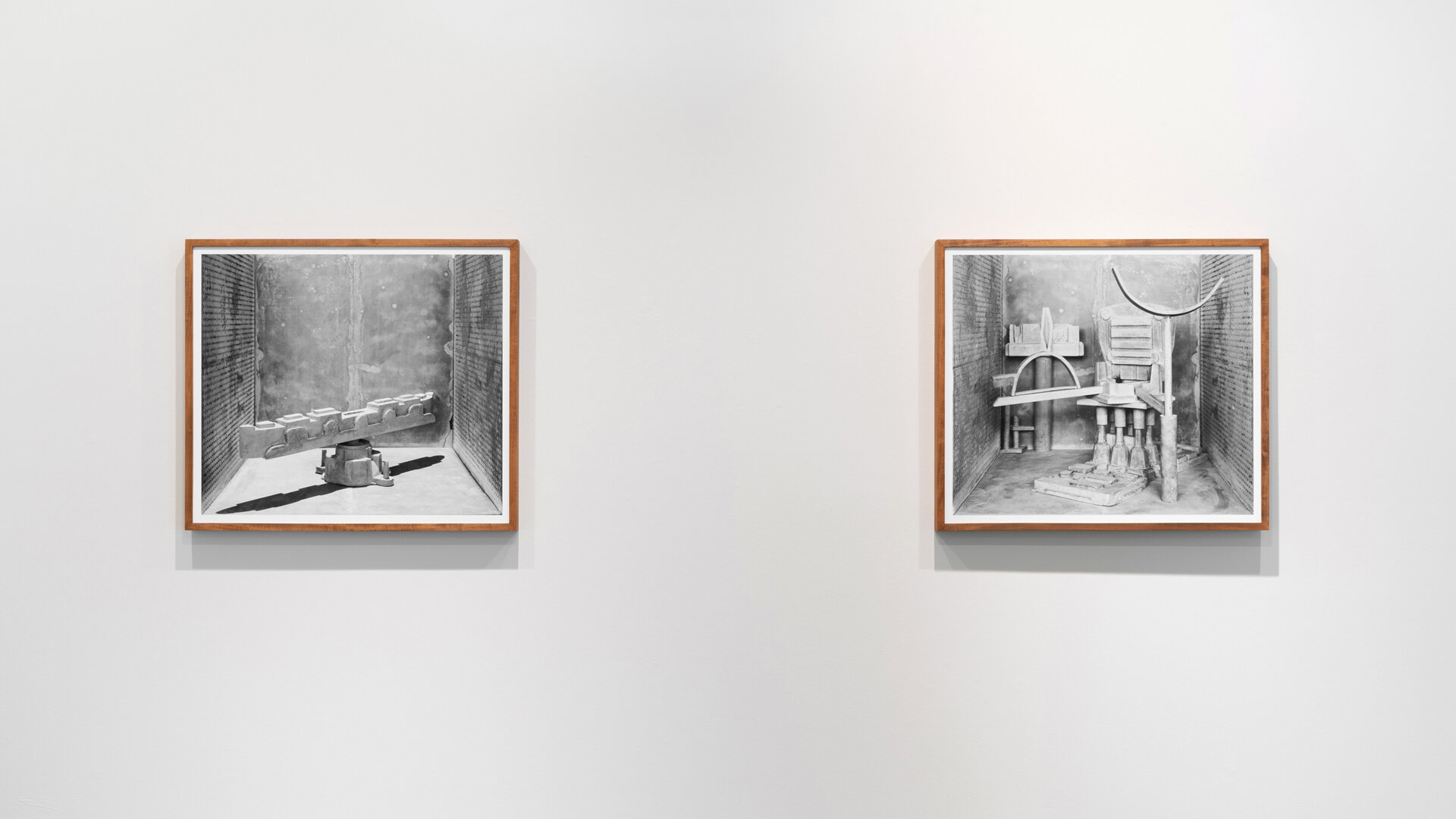 Stature No. 8  and  Stature No. 3  each: 2019, archival pigment print mounted on Sintra, artist frame 29 x 33 inches (framed), edition of 1 plus 1 AP