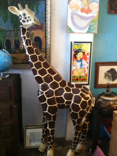 1980s Giraffe Sculpture